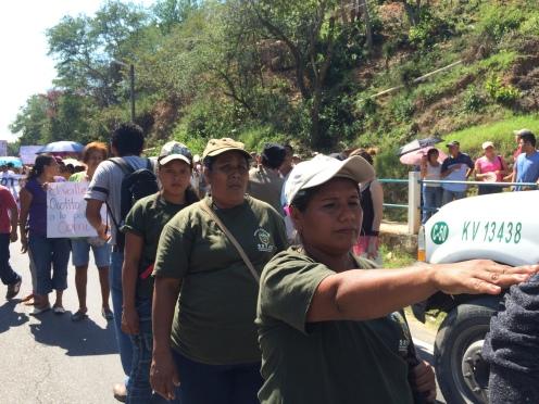 Mujeres de la policía comunitaria de Guerrero, 2014.