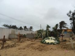 Tumba del periodista Gregorio Jiménez, asesinado. Coatzacoalcos, Veracruz, 2014.