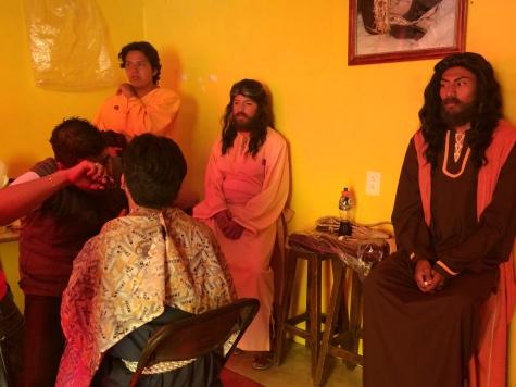 Esperando por la Pasión de Cristo. Iztapalapa, 2014.