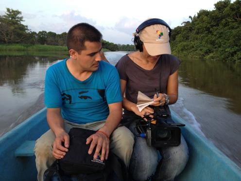 Límite entre Tabasco y Veracruz, descarrilamiento de La Bestia, 2013. Con Juan Carlos Martínez.