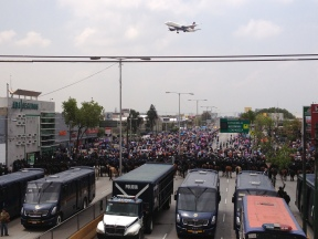 Protestas de maestros, México, 2013.