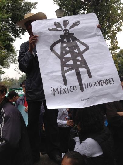 Protestas contra la reforma energética, México, 2013.