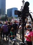 Protestas en el día de asunción de Enrique Peña Nieto, 2012.