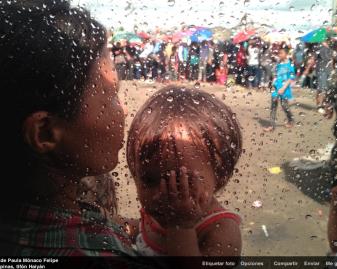 Desplazados por el tifón Haiyán, Filipinas, 2013.