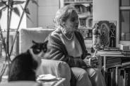 Elena Poniatowska y Monsi. Fotografía de Miguel Tovar.
