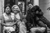 Elena, Martina, Conrado y Shadow. Fotografía de Miguel Tovar.