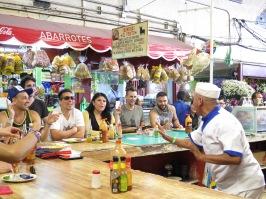 Los Caligaris en el mercado de Coyoacán, final de su gira 2015 por México.