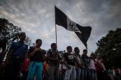 Estudiantes de Ayotzinapa en Chilpancingo, Guerrero, a casi un año de los ataques. Septiembre de 2015. Foto: Miguel Tovar