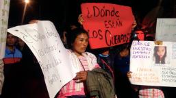 Familiares exigen cuerpos de personas que murieron durante el terremoto del 19 de septiembre de 2017. Ciudad de México.