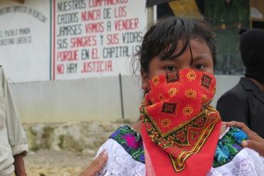 Niña zapatista. Chiapas, octubre de 2017.
