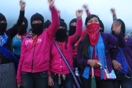 Muchachas zapatistas. Chiapas, octubre de 2017.