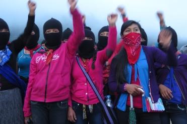 Muchachas zapatistas. Chiapas, octubre de 2017.